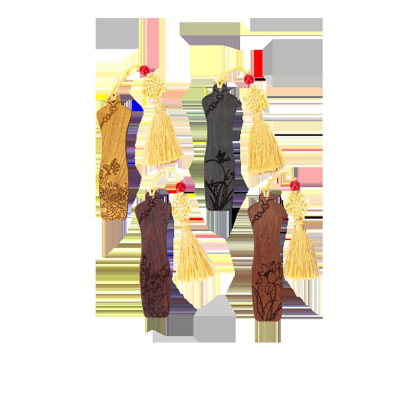 旗袍书签四件套